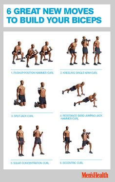 Build your biceps with these 6 new moves