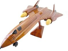 Wooden Jet Military Aircraft Model by PremiumWoodDesigns on Etsy