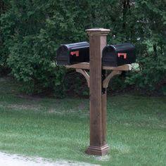 double mailbox post. Double Cedar Mailbox Post Sleeve