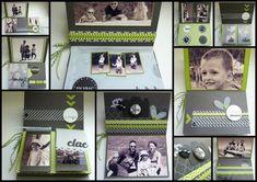 """""""Les consignes du mini-album sont ici"""" Kirigami, Frame, Minis, Photos, Tutorials, Crates, Chevron Paper, Tuto Mini Albums, Paper Strips"""