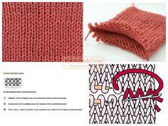 Вязание резинки: схема и фото