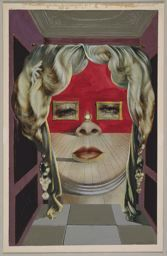 Love this title.  Salvador Dalí / Mae West's Face which May be Used as a Surrealist Apartment / 1934-35 / Art Institute of Chicago