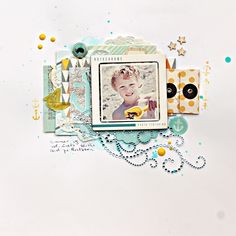 Christin aka Umenorskan scrapper: Sommerlayout. Using Studio Calico, Fancy Pants, Wycinanka and Crate Paper