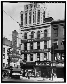 12.  Photocopy of Photograph, May 20. 1930 (original in the collections of Manning Brothers Commercial Photographers. Madison Heights, Michigan, Negative No. 105649). VIEW EAST, NORTHWEST FRONT - 74-78 Monroe Avenue (Commercial Building), Detroit, MI