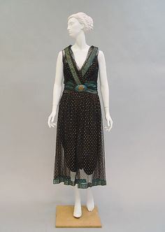 Evening dress (image 1) | House of Poiret | 1927 | French | silk, metal, plastic | Metropolitan Museum of Art | Accession Number: C.I.58.34.8