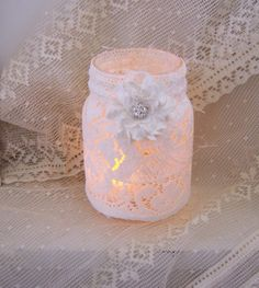 Wedding mason jar candle holder for centerpieces by twocooltexans