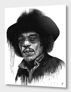 """""""Hendrix"""", Exclusive Edition Aluminum Print by Balázs Solti - From $69.00 - Curioos"""