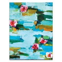 """Artist Lane Leinwandbild """"Water Lillies"""" von Anna Blatman, Bilddruck"""