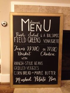chalk board menu - Google Search