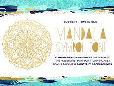 Mandala Symbols Font by Baron Art Co. on @creativemarket