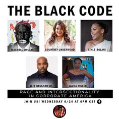 @thesistagurlblog Presents: The Black Code.  A discussion on Racism and Intersectionality in Corporate America!  The panel and presentation airs next Wednesday. @lauramillerpens our host and C.E.O will be streaming LIVE on Facebook so everyone can add onto the discussion!  You will hear more as the days progress but SAVE THE DATE friends!! Corporate America, Beckham Jr, Wednesday, Presentation, Presents, Coding, Facebook, Live, Friends