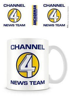 Anchorman 1-Piece Ceramic Channel 4 Logo Mug