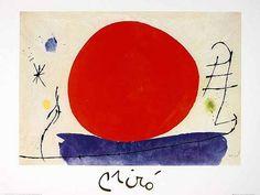 Joan Miró - Ohne Titel (Rote Sonne), 1967