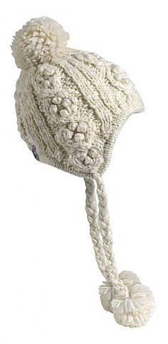 392d299b111 Turtle Fur Aran Hand Knit Fleece Lined Peruvian Hat Color  White -  AmazingSocks.com