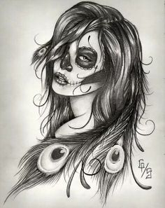 Sugar skull women day of the dead