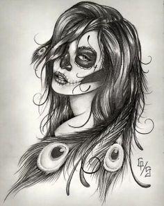 Sugar skull women day of the dead