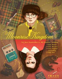 (Fan Poster design by Bethany Radloff for Focus' Moonrise Kingdom) One of the best movies I've seen in a while