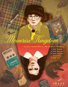 Great alternative movie poster for Moonrise Kingdom #moonrisekingdom