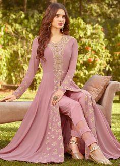 Mauve Purple Designer Embroidered Georgette Party Wear Anarkali Suit – Saira's Boutique Source by wear dresses Party Wear Indian Dresses, Dress Indian Style, Indian Gowns, Bridal Dresses, Flapper Dresses, Indian Designer Outfits, Indian Outfits, Designer Dresses, Pakistani Dress Design