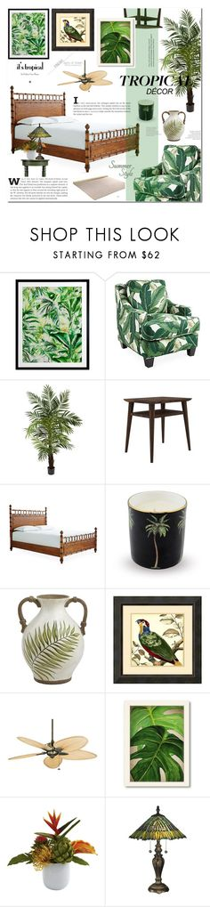 """""""Tropical Home Decor"""" by cly88 ❤ liked on Polyvore featuring interior, interiors, interior design, home, home decor, interior decorating, Society Social, Nearly Natural, Ion Design and Halcyon Days"""