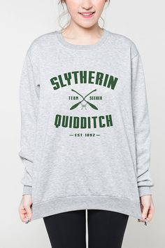 Slytherin Quidditch Harry Potter shirt women by OnemoreToddler