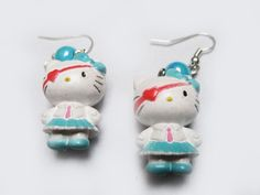 Hello Kitty Goth Pirate earrings $5.50