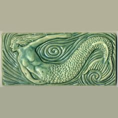 Craftsman style Mermaid Tile in Aqua. Beautiful.