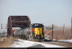 IAIS 707   Description:    Photo Date:  1/27/2008   Location:  Blue Island, IL   Author:  Scott Malec  Categories:    Locomotives:  IAIS 707(GP38-2)