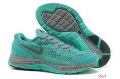 Nike Lunarglide 4 Womens Cool Grey Tiffany Blue 524977 505