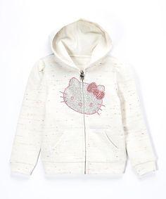 This White Hello Kitty Fleece Zip-Up Hoodie - Girls by  is perfect! #zulilyfinds