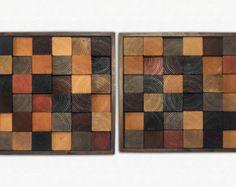Art bois  mur bois moderne Art  Gradient  bois rayures