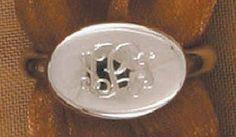 Monogrammed Sterling Silver Ring in Layne
