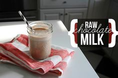 Dairy-free Chocolate Milk      1/2 cup raw cashews, soaked 1 hour      2 cups filtered water      3 tablespoons cacao nibs      1 teaspoon vanilla extract      2 1/2 tablespoons agave syrup      2 teaspoons extra virgin coconut oil      pinch sea salt  Drain the nuts. Combine all the ingredients and blend until completely smooth. Store in the fridge for up to 5 days. Shake well before use.