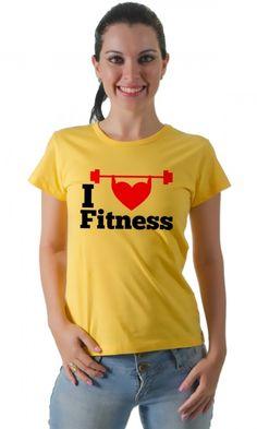 Dica #palcofashion #Camiseta - I love Fitness #moda #fashion