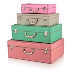 Extra Small Tropical Decorative Storage Suitcase