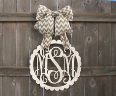 Custom MONOGRAM Circle w/ Scalloped by knittybittyapparel on Etsy, $65.00