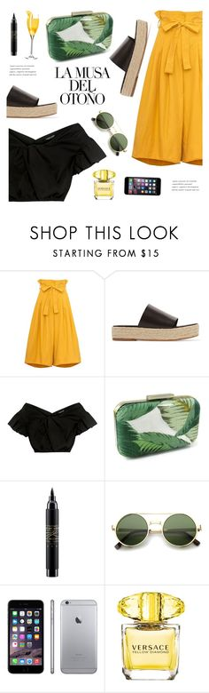 """""""Musa del otoño"""" by nadialesa ❤ liked on Polyvore featuring TIBI, Carven, MAC Cosmetics, Anja, ZeroUV, Versace, espadrilles and culottes"""