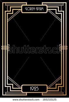art deco border template vector/illustration by lyeyee, via Shutterstock