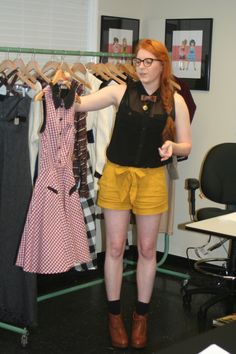 Graduating Senior Sisters Showcase Collections Friday: Katie Kelly with her designs.