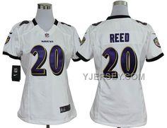 http://www.yjersey.com/cheap-nike-ravens-20-reed-white-game-women-jerseys.html CHEAP NIKE RAVENS 20 REED WHITE GAME WOMEN JERSEYS Only $36.00 , Free Shipping!
