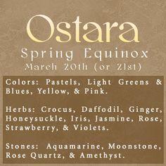 Spring Equinox:  #Ostara.