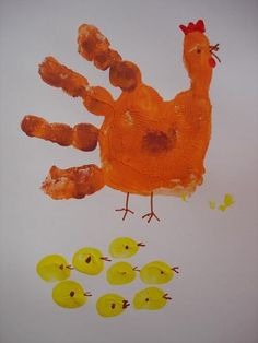 Loisin Elementary School - Trees and hens in pictures - Z ECOLE Paques, lapins, oeufs, poules, . Easter Crafts For Kids, Crafts To Do, Diy For Kids, Handprint Art, Hens And Chicks, Easter Printables, Farm Theme, Preschool Activities, Holiday Crafts
