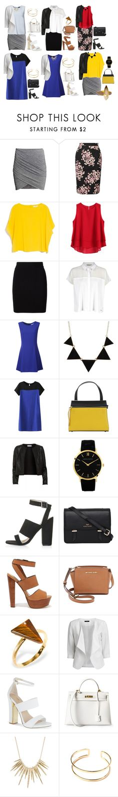 """Unbenannt #1852"" by strawberryfelton on Polyvore featuring Mode, Jonathan Saunders, MANGO, T By Alexander Wang, Calvin Klein, Alice & You, CO, CÉLINE, Maglie I Blues und Larsson & Jennings"