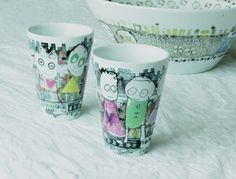 Poul Pava - Be friends Porcelain, Mugs, Friends, Tableware, Illustration, Inspiration, Ideas, Products, Amigos