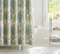 Vivian Ikat Shower Curtain | Pottery Barn