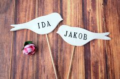 Personalized Name Bird Wedding Cake Toppers  by Susabellas on Etsy, $34.95