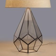 One of my favorite discoveries at WorldMarket.com: Glass Terrarium Table Lamp…