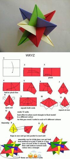 estrella de origami por extraño en tierra extraña