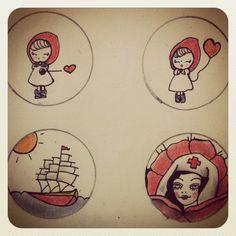 Pins illustrated