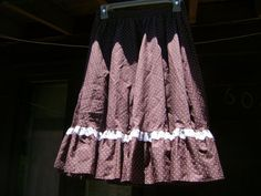 Do-si-Do Square Dancing Vintage Polka Dot Skirt. $20.00, via Etsy.